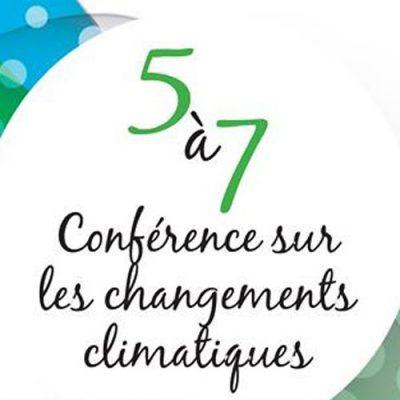 5 à 7 S'adapter aux changements climatiques (2016)